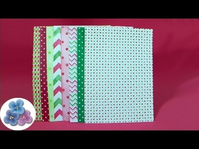 Como Hacer Papel Scrapbook de Navidad *How to Scrapbook Paper for Christmas* Pintura Facil