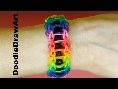 Craft:  Rainbow Loom:  Rainbow Ladder Bracelet Tutorial - Easy - Step by Step instuctions