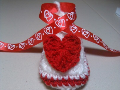 Crochet Valentine Baby Shoe - Part One