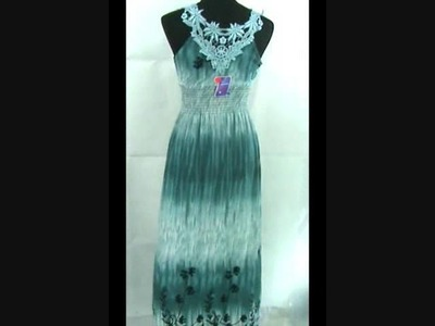 Crocheted Lace Back Maxi Dress Wholesale Beach Clothing WholesaleSarong.com