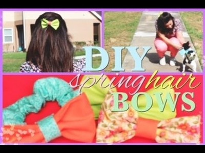 DIY Hair Bows.Scrunchies! (No Sew) Tutorial