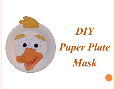 DIY - How to Make Attractive Paper Plate Mask for Preschoolers