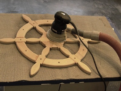 DIY - Ships Helm Steering Wheel - Nautical Decor