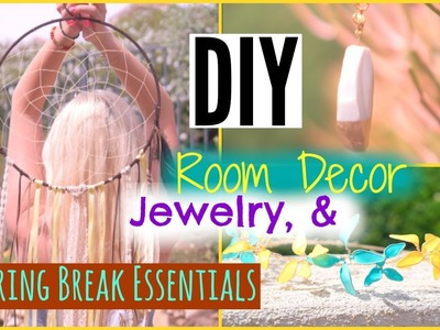DIY TUMBLR Room Decor, Jewelry, & Spring Break Essentials! ♡