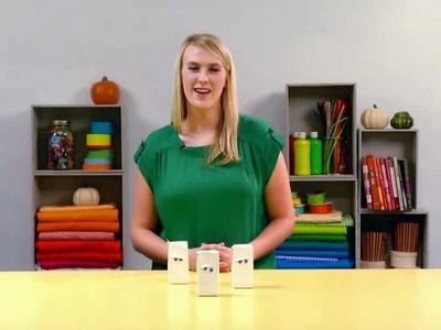 Easy Halloween Craft -- Mummy Juice Boxes