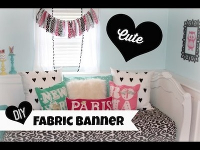 Fabric Banner DIY | ShowMeCute