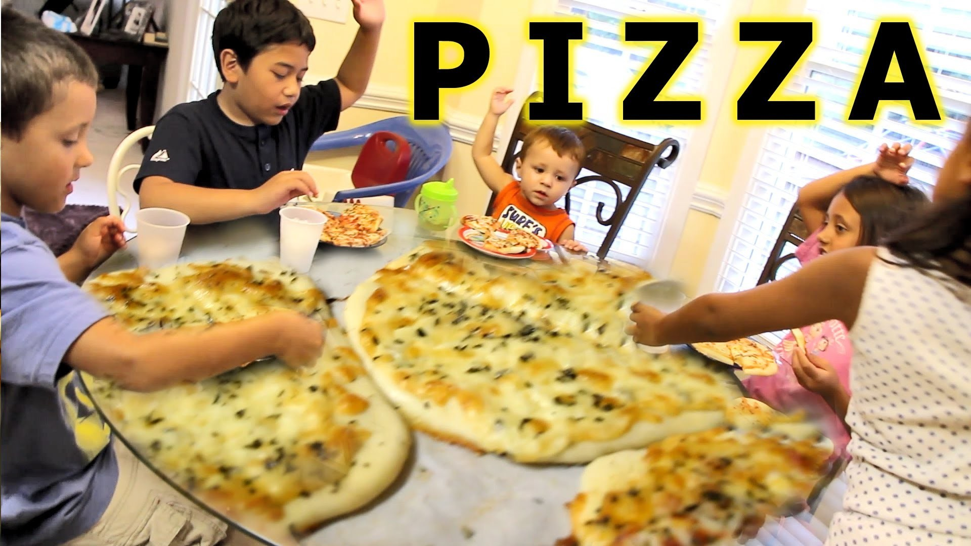 Family Pizza Night (an average day in our silly house)