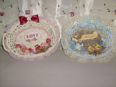 Floral Bird Nest Basket Crafts