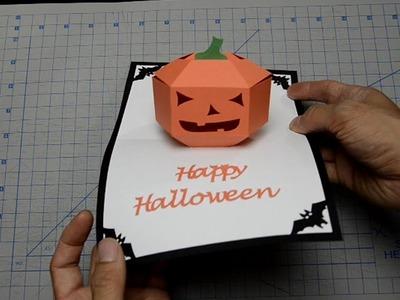 Halloween Pop Up Card: 3D Pumpkin Tutorial