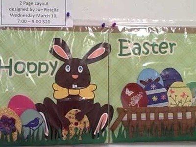 """""""Hoppy Easter"""" 2 Page Interactive Easter Bunny Scrapbook Layout"""