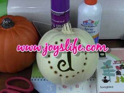 How to Carve and Monogram a Craft Pumpkin