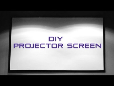 How to Make a DIY Projector Screen with Blackout Cloth