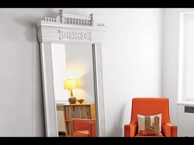 How to Make a New Mirror with Old Door Trim - This Old House