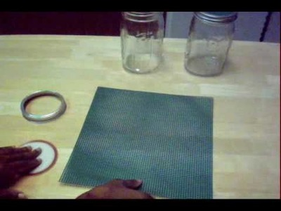 How to Make a Sprouting Lid with Plastic Canvas