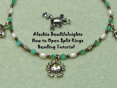 How to Open Split Rings Beading Tutorial