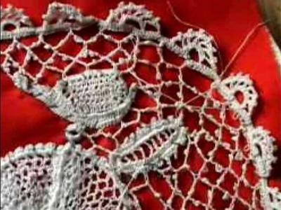 Irish Crochet Lace, finished bonnet