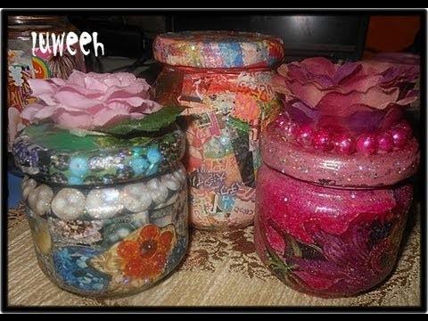 Magazinez and Glass Jar . Craft Ideas