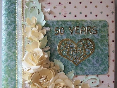 Mini Scrapbook Album For My Inlaw's 50th Anniversary
