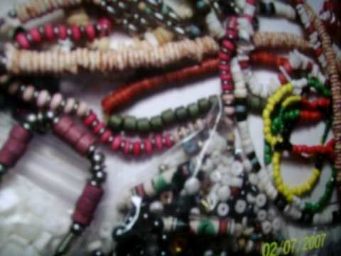 Necklace making: hide the knots: earn money : creativity beads metal bone thread stone rock