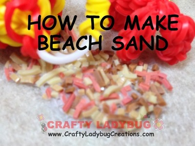 NEW Rainbow Loom Band BEACH SAND EASY Charm Tutorials by Crafty Ladybug.How to DIY