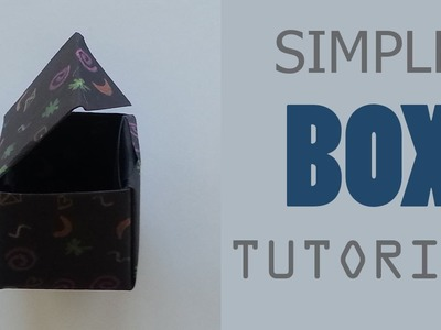 Origami Box with Lid Tutorial - one sheet of paper
