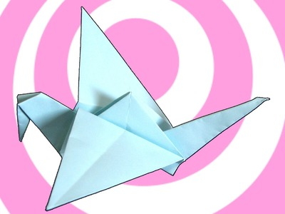 Origami Flapping Bird (Crane) Instructions