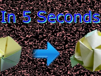 Origami Magic Rose Cube