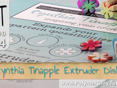Polymer Clay Extruder Disks from Cynthia Tinapple