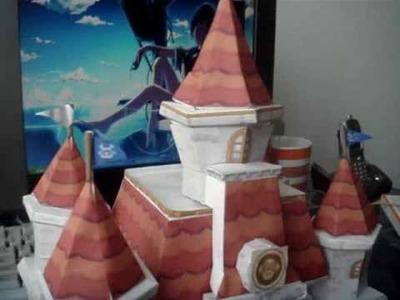 Princess Peach's Castle Papercraft Stop Motion