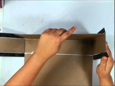 Scrapbook Mini Album: Vertical Paper Bag Album Part 5