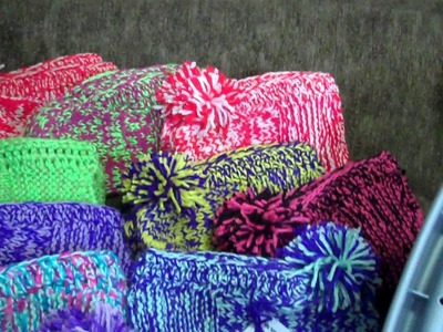SLIPPER'S    KNITTED   Homemade slippers of many colors in USA Wisconsin