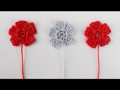 Small Crochet Flower - Small Crochet Flower Tutorial