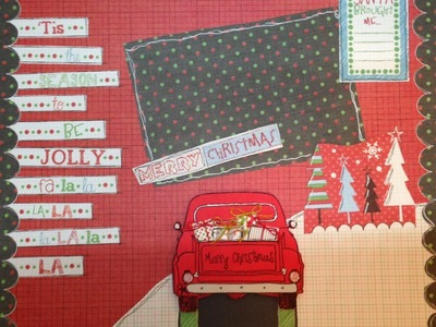 Super Easy Christmas Scrapbook Layout