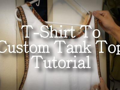 T-shirt to Custom Tank Top Tutorial [DIY]