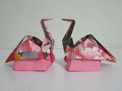TUTORIAL - Origami Sitting Crane (Creator: Kazukuni Endo)