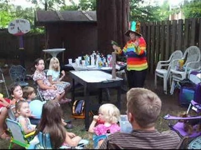 Vancouver BC Kids Learn from Live Parrot Tricks Birthday Party Entertainment with Art Craft Creation