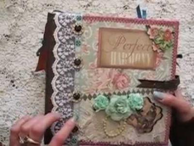 8x8 Stitched Scrapbook Not So Mini Album - Very Interactive