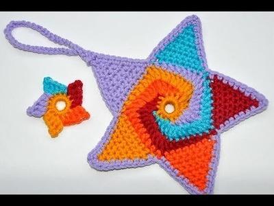 "Advent Calendar * December 20 * Crochet Star ""Tutti Frutti"""
