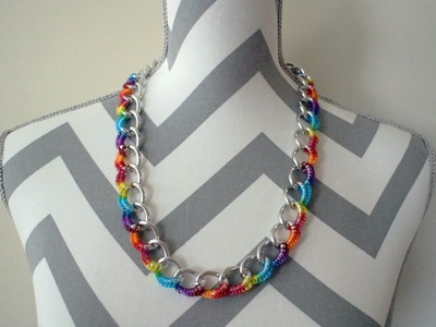 Crochet Curb Chain Necklace