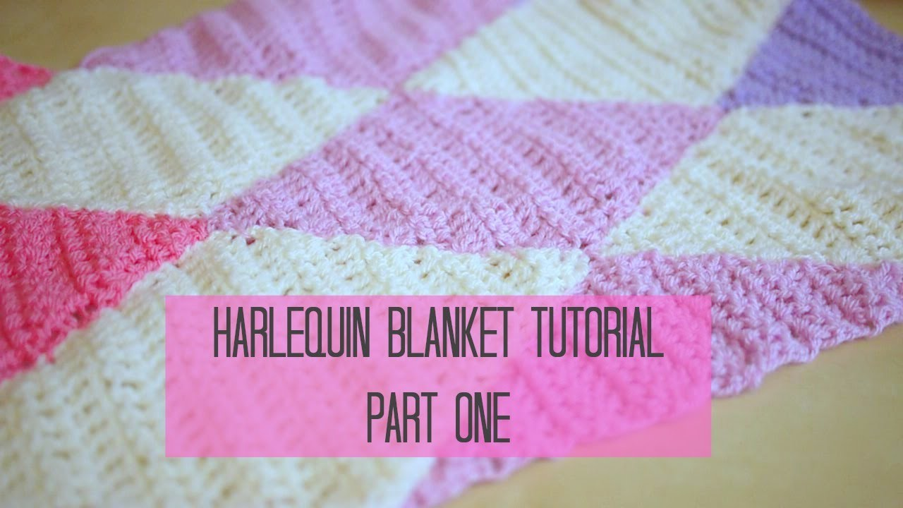 CROCHET: Harlequin. Diamond blanket part 1 | Bella Coco