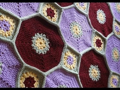 Crochet Octagon & Squares Throw: Complete Tutorial