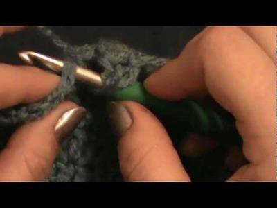 Cross Puffed Crochet Beanie. Slouchy Hat