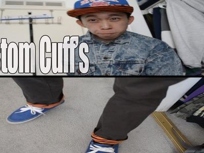 Custom pant's cuffs tutorial [DIY]