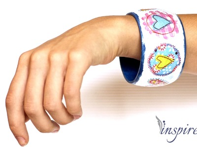 Decoupage tutorial - bracelet with hearts