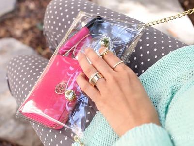 DIY Accessories: How to Make a Cute Clear Crossbody Clutch | ANNEORSHINE