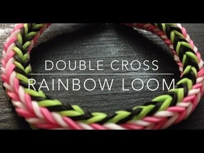 DIY: Double Cross - Rainbow Loom Tutorial ♡ Theeasydiy #RainbowLoom