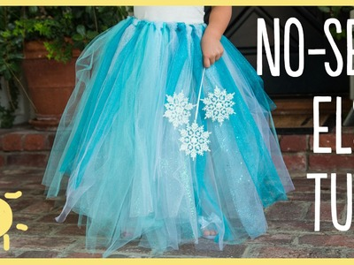 DIY | Elsa No-Sew Tutu (Easy Halloween Costume!!)
