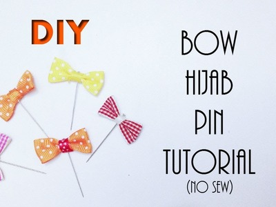 DIY Hijab Accessories #1: Easy No-Sew Ribbon Bow Hijab Pin Tutorial [HijabDiariesxo]