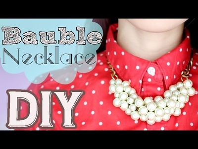 ➳ DIY: {Holiday Gifts}  Simple Bauble Necklace