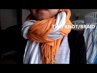 DIY: How to Knot.Braid Two Scarves [Wear 2 at Once]